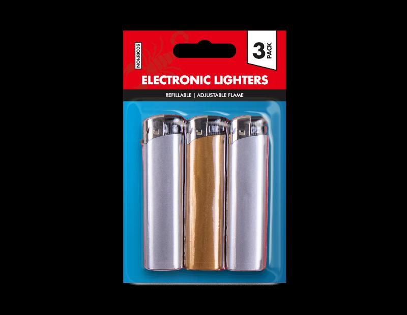 Metallic Lighters - 3 Pack