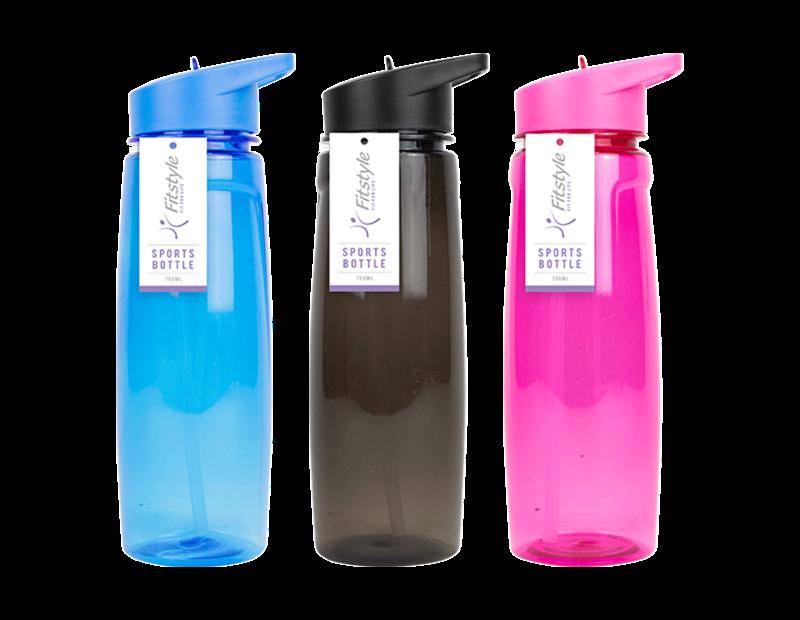 Coloured Sports Drinking Bottle 750ml
