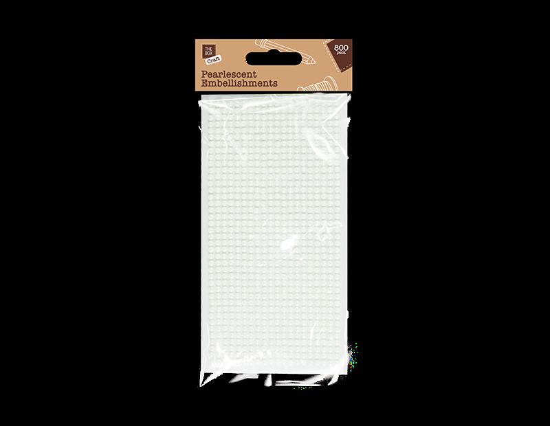 Mini Pearlescent Embellishments - 800 Pack