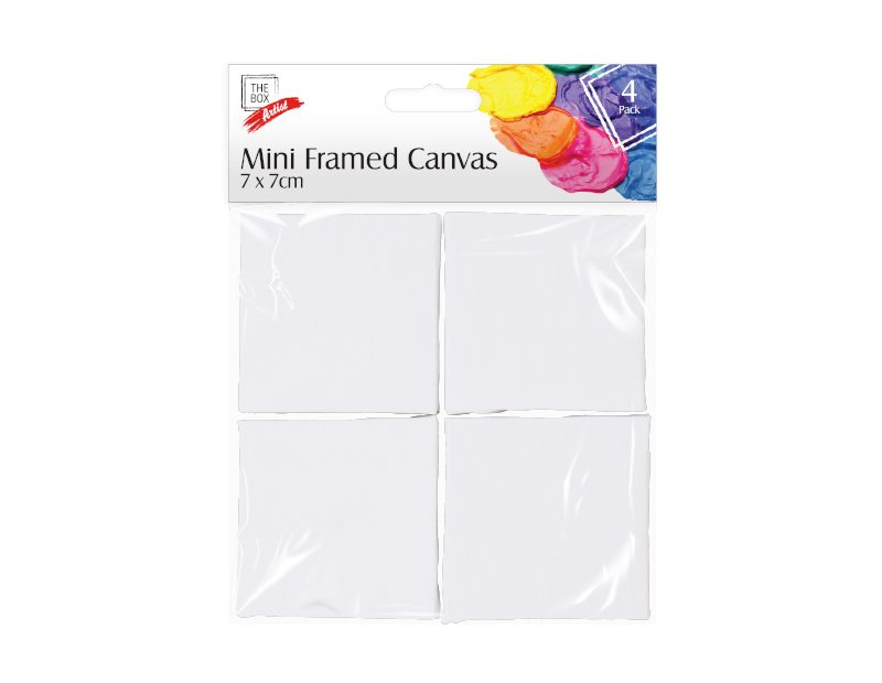 Artist Mini Framed Canvas 7cm x 7cm - 4 Pack