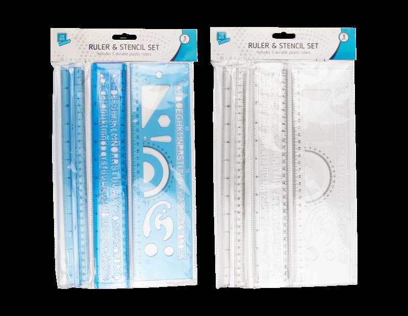 Ruler & Stencil Set - 3 Pack