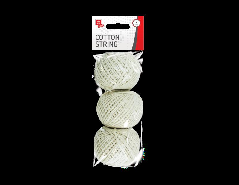 Cotton String Balls - 3 Pack