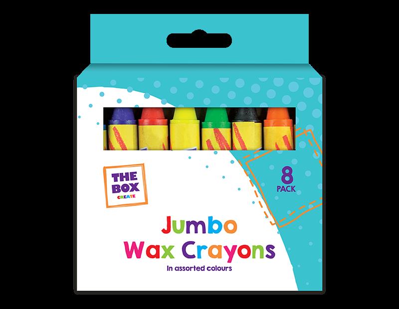 Jumbo Wax Crayons - 8 Pack