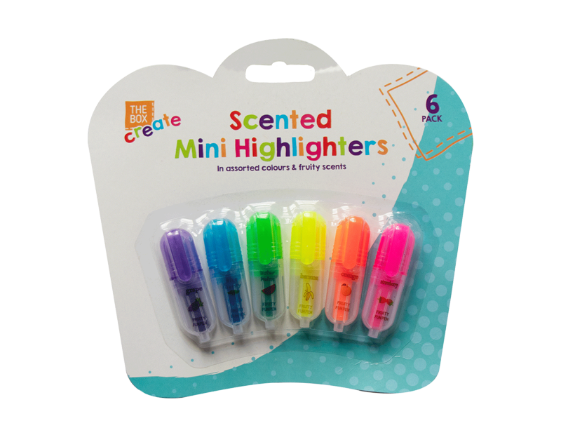 Scented Mini Highlighters - 6 Pack