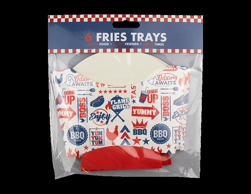 BBQ Fries Trays - 6 Pack
