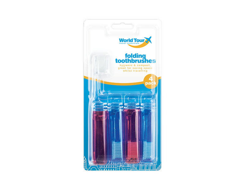 Travel Toothbrushes - 4 Pack