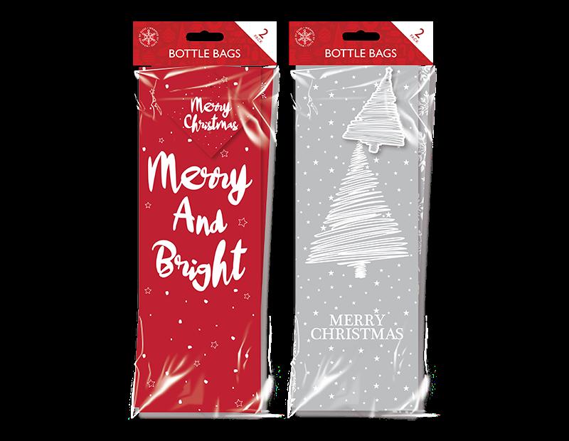 Christmas Bottle Bags - 2 Pack